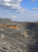 Gravel production in quarry Stock Photos