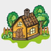 Illustration of a cartoon house Stock Illustration