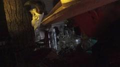 Vintage photo graphs, short circuit lighting Stock Footage