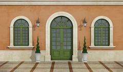 Detail of a classic facade - stock illustration