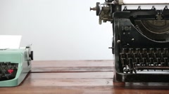 Typewriter dolly shot Stock Footage