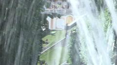 Peterhof fountain close up refocusing Stock Footage