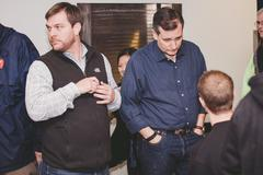 Senator Ted Cruz - Presidential Candidate talking to voters Stock Photos
