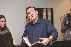 Senator Ted Cruz - Presidential Candidate Stock Photos