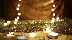 Christmas decoration Stock Footage
