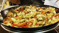 Veggie Wok Stock Footage