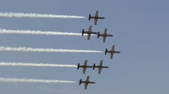 Breitling Jet Team Formation Pass Change Stock Footage