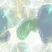 Pine branch seamless pattern camouflage winter - stock illustration