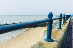 Railing by the seaside - stock photo