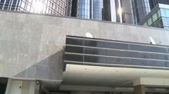 General Motors building exterior - stock footage