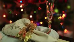 Christmas Table Setting Celebration 4 - stock footage