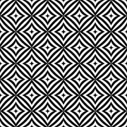 Seamless monochrome angular curved rectangle pattern - stock illustration