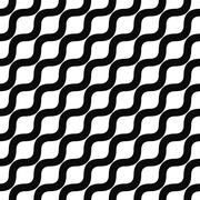 Seamless monochrome angular wave pattern Stock Illustration