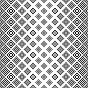 Stock Illustration of Seamless monochrome angular curved square pattern
