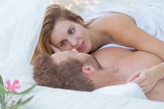 Stock Photo of Wife and husband having sex