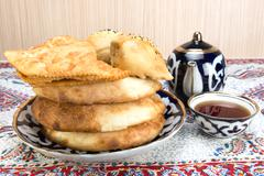 Stock Photo of Baking in the Central Asian cuisine