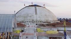 Boudhanath Stupa after 2015 Nepal Earthquake Stock Footage