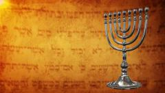 Hanukkah day vintage old ancient background - stock footage