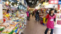 Supermarket like bazaar, different products, clean and modern - stock footage