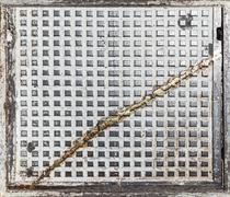Grunge industrial background or texture made of old hatch Stock Photos