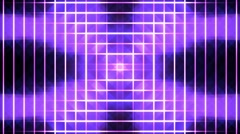 Purple Pulsing Disco Neon Lights Grid Shiny Glowing VJ Motion Background Stock Footage