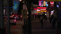 Clifton Hill Tourist Strip in Niagara Falls - stock footage