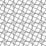 Seamless monochrome angular curved grid pattern - stock illustration