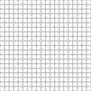 Seamless monochrome star shape grid pattern - stock illustration