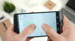 4K Map Directions GPS on Smartphone App.mp4 Stock Footage