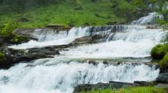 Tvindefossen Waterfall, Trollafossen, Voss, Norway. Stock Footage