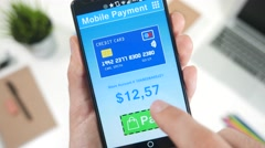4K Online Credit Card Payment Smartphone.mp4 - stock footage