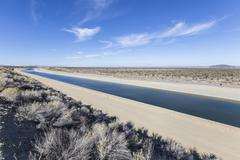 California Aqueduct near Los Angeles, California. Stock Photos