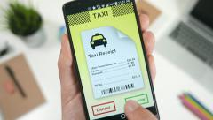 4K Ordering Taxi Cab Through Smartphone App E-hailing.mp4 - stock footage