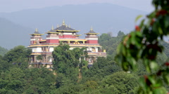Buddhist Monastery in Nepal Stock Footage