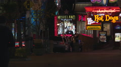 Clifton Hill Lights at Night. Stock Footage