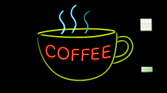 Coffee Neon Sign. Stock Footage
