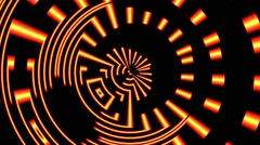 Gold Yellow Black Pulsing Rotating Concentric Disco Lights VJ Motion Background Stock Footage