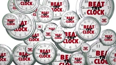 Beat the Clock Race Against Time Challenge Stock Footage