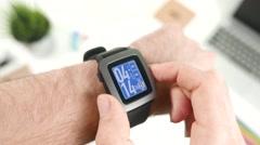 4K Smartwatch Menus Selecting apps - stock footage