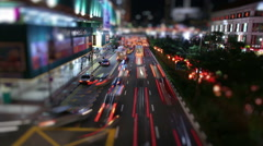 Tilt Shift Traffic - stock footage