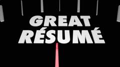 Resume Skills Experience Education Speedometer Stock Footage
