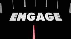 Engage Interact Participate Communicate Speedometer Stock Footage