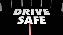 Drive Safe Alert Defensive Speedometer Stock Footage