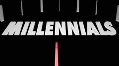 Millennials Generation X Baby Boomers Speedometer Stock Footage