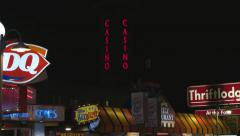 Niagara Falls Clifton Hill Lights. Stock Footage