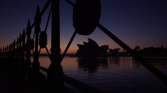 Sydney Opera House beautiful dawn view across Circular Quay Stock Footage