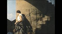 Vintage 16mm film, 1955, Italy Siena skyline Stock Footage