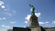 Stock Video Footage of Statue of Liberty Cloud Timelapse