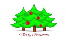 Christmas Tree on White. Motion Xmas Background. - stock footage