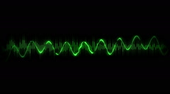 Motion Background with Audio Waves and Spectrum Stock Footage